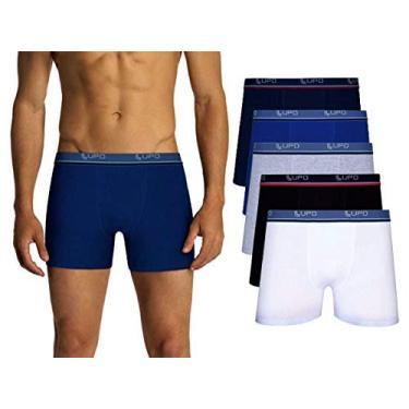 Imagem de Kit Com 10 Cuecas Boxer Lupo Algodão Box Masculina (5 Pretas - 3 Cinzas - 2 Brancas, M)