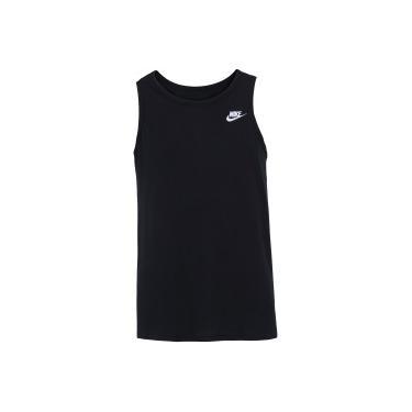 Camiseta Regata Nike Club Futura - Masculina - PRETO BRANCO Nike 942ffd1e0a8