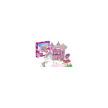 Imagem de Castelo Casa Playset Reino Dreamtopia Barbie Disney 70 Peças Madeira
