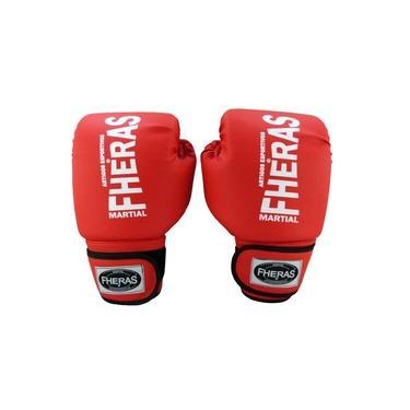 Luva Boxe Muay Thai Tradicional 08 oZ Vermelho