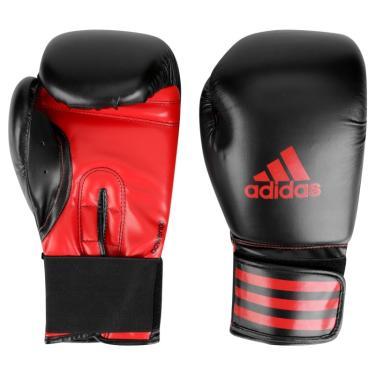 21a4de45a Luva de Boxe Power 100 Adidas - Preto com vermelho - 16oz