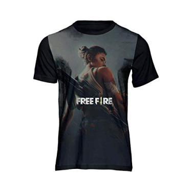 Camiseta Free Fire Game Mestre Camisa Unissex Novidade 54 Preto Tamanho: 14; Cor: Preto