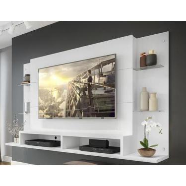 """Imagem de Painel Nairóbi Plus para TV Até 60"""" Branco Acetinado Texturizado - Mul"""