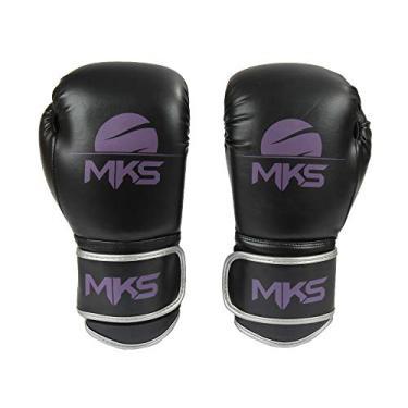 6dd862334 Luva Boxe Muay Thai Mks Combat Energy Preto Roxo 18 Oz