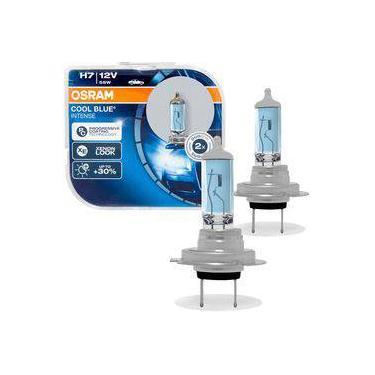 Par Lâmpada Osram Cool Blue Intense H7 Luz Super Branca Visual Xenon 4200k