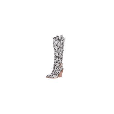 Sapatos femininos com estampa de cobra de couro com fivela de salto alto e sapatos de salto alto. cool 1815