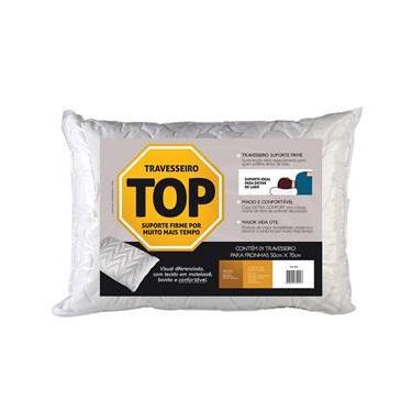 Travesseiro Fibrasca Top Flocos Espuma Firme - Branco