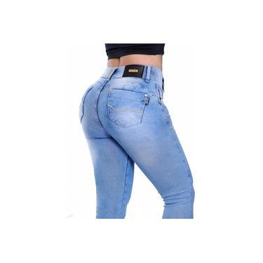 Calça Set For Flare Lycra C/Jeans 1726 Modela Bumbum Bojo Escolar Trabalho