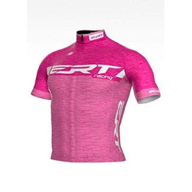 Camisa Ciclismo ERT Elite Racing Rosa Tamanho:G;Estampa:Racing Rosa