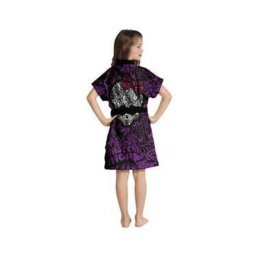 Roupão infantil aveludado estampa Monster High - Lepper
