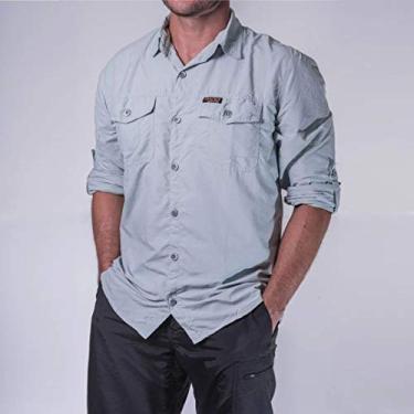 Camisa Hard Adventure Safari Uv50+ Masculina Gelo