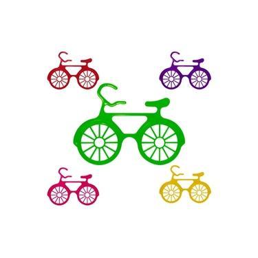 Imagem de Óculos Bicicleta Coloridos sem Lente 12 Unidades