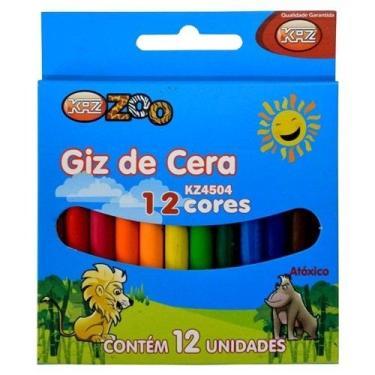 Giz de Cera c/12 Cores Ref. KZ4504 -KAZ