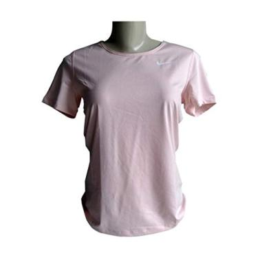 Camiseta Nike Feminina Fitness Dry Fit corrida caminhada academia Tamanho:M;Cor:Rosa