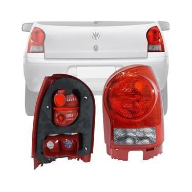 Lanterna Traseira Volkswagen Gol G4 06 07 08 09 10 11 2012 2013 2014 Borda Vermelha Ré Fumê Direito