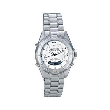 6e29cfe4705 Relógio Masculino Anadigi Technos Performance T20557 3B - Prata