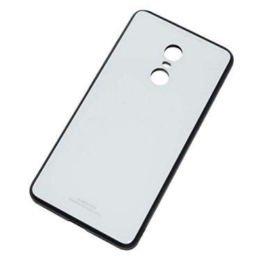 Kepuch Quartz Case Capas TPU &Voltar (Vidro Temperado) para Xiaomi Redmi Note 4X - Branco