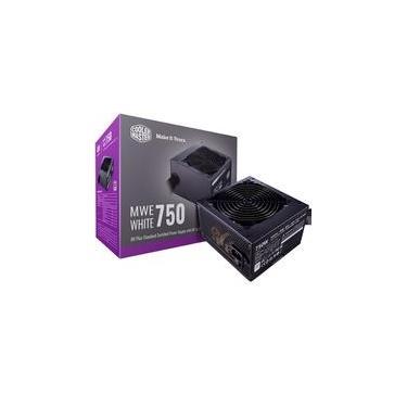 Fonte Cooler Master MWE 750 White V2, 750W, 80 Plus Standard - MPE-7501-ACAAW