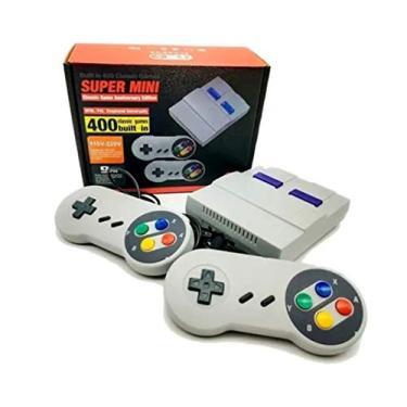 Super Nintendo Mini Retrô 2 Controles 400 Jogos Clássicos 8 Bits