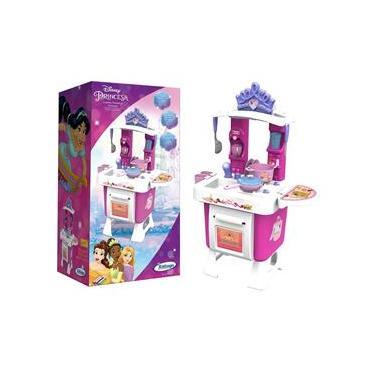 Imagem de Cozinha Fantástica Infantil Princesas Xalingo Branca e Rosa