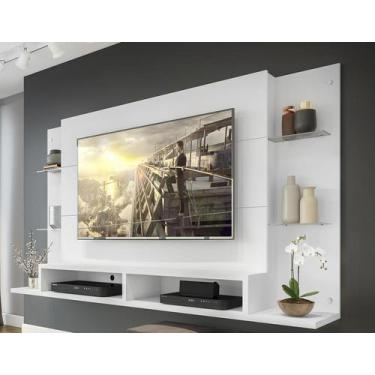 "Painel Nairóbi Plus para TV Até 60"" Branco Acetinado Texturizado - Mul"