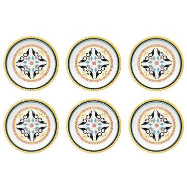 Imagem de Jogo De Pratos Fundos Oxford 6 Peças 23cm Daily Floreal Luiza Oxford