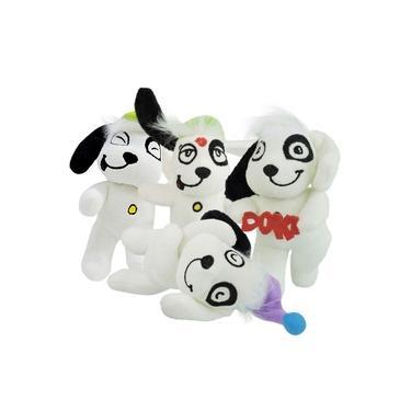 Imagem de Coleção 4 Bonecos de Pelúcia Cachorro Doki Discovery Kids