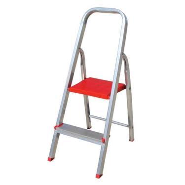 Escada domestica de aluminio 2 degraus btf - Botafogo