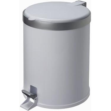 Lixeira plástica c/pedal branca 12L Viel PT 1 UN