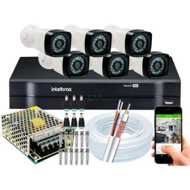 Imagem de Kit Cftv 6 Cameras Segurança  Hd Dvr Intelbras Mhdx Full Hd S/ Hd