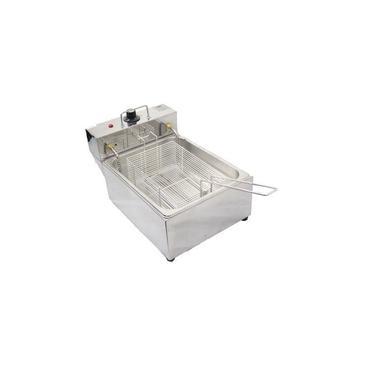 Fritadeira Elétrica Óleo 1 Cuba 5 Litros BONI S Metal Inox B2W 110V