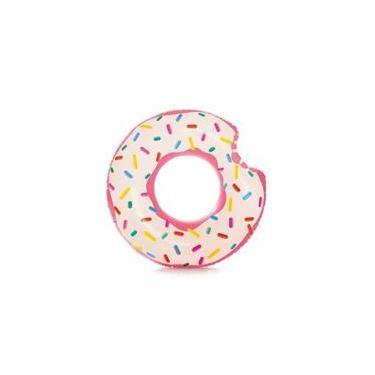 Boia Inflável Donut Morango Intex Piscina Pvc 107Cm