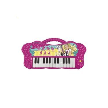 Teclado Infantil Barbie Fabulosa Com Função Mp3 8007-1 Fun