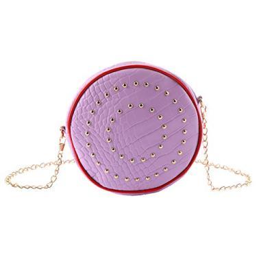Bolsa de ombro Valicclud 1 peça versátil bolsa de armazenamento bolsa moderna, Violeta, 17X17X6CM