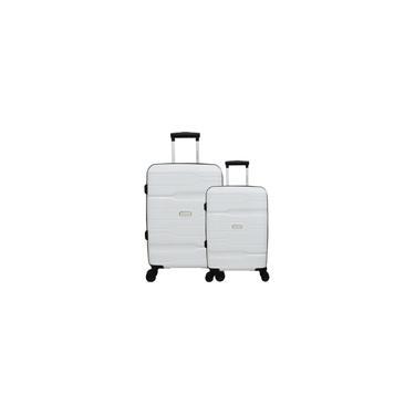 Imagem de Conjunto de Malas de Viagem 2 Peças com Expansor e Roda 360 Branco Swissland - YS21058B