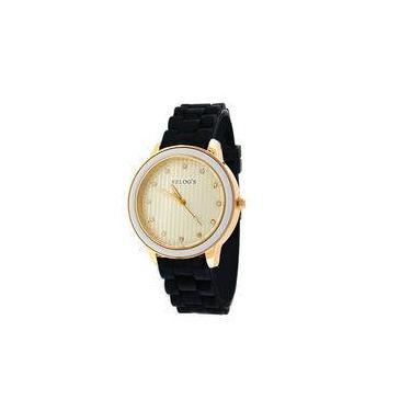 33bd9d8aab4 Relógio Feminino Vintage 43308 Analógico Relog s Preto - Rel19114