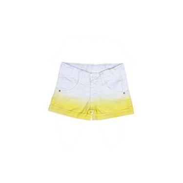 Shorts Infantil Feminino De Sarja Tinturada - Amarelo