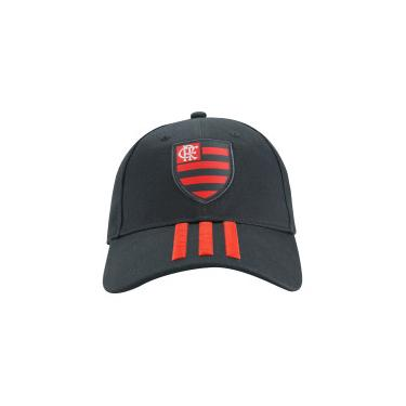 Boné Aba Curva do Flamengo 3S CAP adidas - Strapback - Adulto - CINZA ESC  7df7cdb69be23