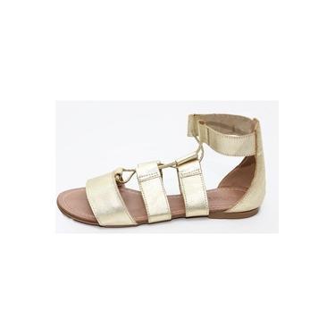 Sandalia Feminina Gladiadora Top Franca Shoes Dourado