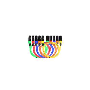 Cabo de áudio colorido xlr macho para fêmea cabo de microfone misturador balanceado