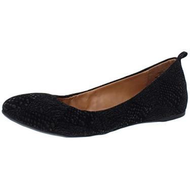 Sapatilha feminina Style & Co. Vinniee bico redondo, Black Snake, 8