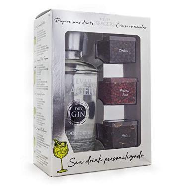 Kit Gin Silver Seagers 750ml + Especiarias