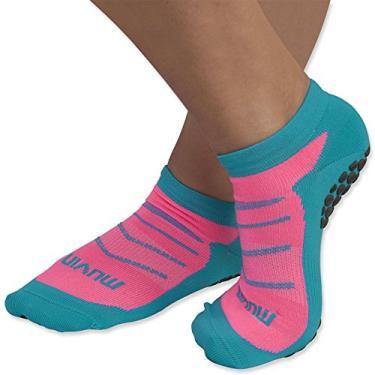 Meia Pilates - Azul/pink - 34-39