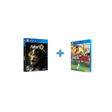 Kit 2 Jogos Fallout 76 + PES 2018 Ps4