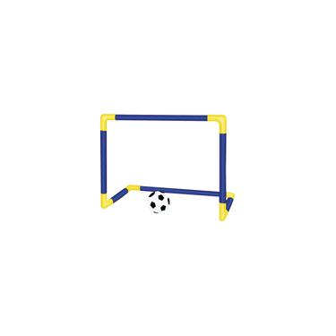 Imagem de Trave e Bola Infantil Chute a Gol Kit com Rede Bomba Brinquedo Futebol Dm Toys DMT5076