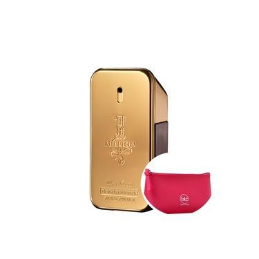 1 Million Paco Rabanne Eau de Toilette - Perfume Masculino 30ml+Beleza na Web Pink - Nécessaire
