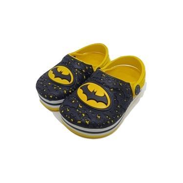 Sandália Babuches Infantil Menino Batman Amarelo