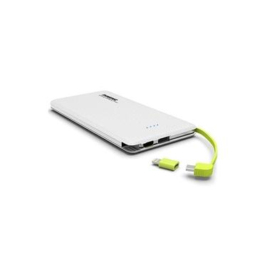 Carregador Portátil PowerBank clr p/ Motorola Moto G6 Plus Pineng 10000mAh Pn-951 Branco Original c/ Selo