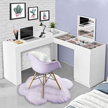 Escrivaninha Penteadeira De Canto Branco 3003023 Mobler