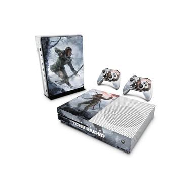Skin Adesivo para Xbox One Slim - Rise Of The Tomb Raider
